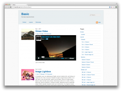 Тема WordPress Basic